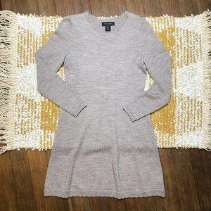 Tahari Sweater Dress Size Medium Light Brown